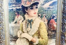 ART: Huldah Cherry Jeffe  & John Frederick Lloyd Stevens / About Huldah Cherry Jeffe. Huldah is an American artist who loved painting turn ofthe century fashions. She is listed in Who's Who in American Art, Who's Who of American Women, and the World Who's Who of Women.