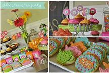 Tea Party Birthday Ideas / A spot of tea? Throw an elegant and beautiful tea party birthday party with tea, cookies, beautiful tea party decorations and more.