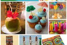 Tikki Party Ideas / Luau Tiki Party decorations, crafts, food and ideas.