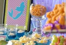 Little Mermaid Party / Celebrate a birthday with a fun Disney's The Little Mermaid themed bash! Ariel, Flounder, Sebastian and the gang bring the ocean to life with these fun decorations, invitations, foods, games and more!