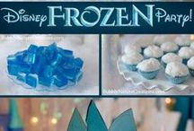 Frozen Birthday Party Ideas / Princess Anna and Queen Elsa from Frozen invite you to celebrate the Frozen way! Delicious cakes, snacks, fun games and activities all Frozen themed!