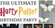 Harry Potter Birthday Party Ideas / Harry Potter Birthday Party decorations, free printables, invitation, party activities, party favors and more ideas for the Potterhead.