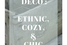 E T H N O - C O Z Y - C H I C / Cozy, classy, ethnic, vintage everything that inspires me and makes me think about what would be my dream home deco !