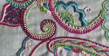 Embroidery / Kirjomalla tehtyä koristelua