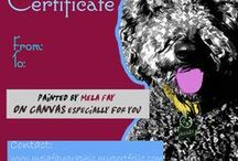 Christmas Gift Ideas / Christmas gift cards, Gift ideas, T-shirts, custom dog portraits, dog portraits custom vouchers, last minute gifts, funny gifts for dog lovers, pets portraits custom