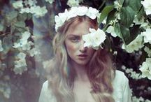 1970s Wedding Ideas / Think structured necklines, draping sleeves and flower crowns for 1970's bohemian bridal style.