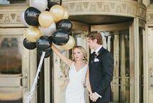 Black & Gold Wedding Ideas / Opulent tones with a heavy 1920s Art Deco feel