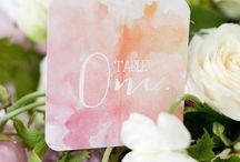 Watercolour Wedding Ideas / Watercolours are so pretty and romantic - the perfect wedding theme