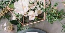 Fabulous Geometric Wedding Ideas / Modern with infinite options - embrace geometrics in your wedding theme