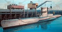 Submarines: Type VIID class / These boats, designed in 1939-1940, were basically a longer version of the type VIIC with additional SMA mine shafts just aft of the conning tower. They were armed with 12 torpedoes or 26 TMA mines (39 TMB) and had the 88mm deck gun with 220 rounds. They can be considered the forefathers of the big ballistic submarines of today.