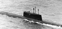 """Submarines: Mike class (Project 685 Plavnik) / K-278 Komsomolets was the only Project 685 Plavnik (Плавник, meaning """"fin"""", also known by its NATO reporting name of """"Mike""""-class) nuclear-powered attack submarine of the Soviet Navy. On 4 August 1984 K-278 reached a record submergence depth of 1,020 metres (3,350 feet) in the Norwegian Sea. The boat sank in 1989 and is currently resting on the floor of the Barents Sea, one mile deep, with its nuclear reactor and two nuclear warheads still on board."""