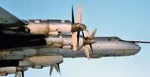 """Military aircraft: Tu-95 Bear / The Tupolev Tu-95 (Russian: Туполев Ту-95; NATO reporting name: """"Bear"""") is a large, four-engine turboprop-powered strategic bomber and missile platform. First flown in 1952, the Tu-95 entered service with the Soviet Union in 1956 and is expected to serve the Russian Air Force until at least 2040. A development of the bomber for maritime patrol is designated Tu-142, while a passenger airliner derivative was called Tu-114."""
