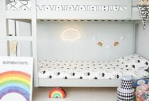 At our home / Our kids bedrooms in both our old home and our new. Designing kids rooms.