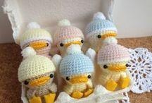Crochet knit figures