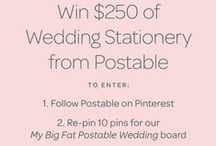 MY BIG FAT POSTABLE WEDDING / Re-pin & Win big with Postable!