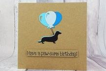 Cards with dogs / Handmade cards featuring various dog breeds.