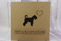 Schnauzers featured on handmade cards, gifts, accessories and home decor