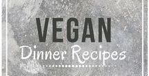 Vegan Dinner Recipes / Easy vegan dinner recipes.  Follow for delicious vegan dinner inspiration from around the web!