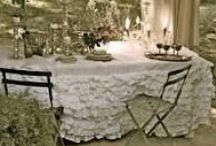 Chair covers and curtains and tablecloths / by Pat Tysinger