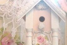 Shabby birdhouses and cages / by Pat Tysinger