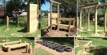***Home: DIY Backyard Fitness Obstacle Course*** / Ideas for building an outdoor Ninja Warrior obstacle course for all fitness levels.
