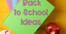 Back to School Ideas / This is a collection of classroom resources and teaching ideas for the beginning of the year during back to school time, such as classroom management ideas, organization ideas, lessons, and tips and tricks for teachers.