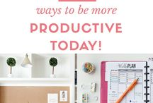Mom Boss / Be productive while working at home! Stay focused and get more done with these tips!