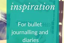 Bullet journal inspiration / Bullet journal inspiration and tips for getting started. Journal ideas for keeping a regular diary. #BuJo #Journal