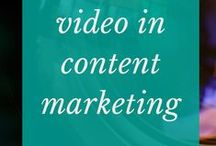 Video in content marketing / Writing prompts and challenges to get the creative words flowing. Video challenges to get more comfortable using video in a business context. #videomarketing