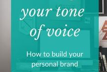 Tone of voice and brand building / Personal branding, branding for business and how to set the tone of voice for your brand that's applied to all of your written communication.