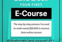 Creating eCourse Content / Tips and tools for creating an eCourse that sells. All the advice you need to set yourself as a successful online course provider #eCourse #OnlineCourse