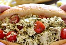 Chicken & Pesto / Chicken and Genoese pesto - a match made in heaven!