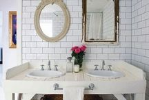 Bathroom Ideas for Small Spaces / Finding the best ideas for making the most of our small bathroom with both organization and decor inspiration. / by Marty Walden @ MartysMusings