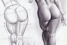 ART - How to draw a human body / Human body and his parts...How to draw and painting