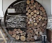IDEAS - Wood storage / How to store wood...DIY