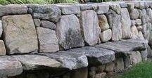 GARDEN - Retaining wall / Retaining wall...raised flower bed...DIY