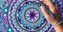 IDEAS - Mandala / How to draw a mandala ... Uklidňující mandaly.