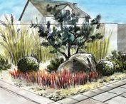 GARDEN - Concept / Garden / Jardin / Garten / design / plan / project / inspiration.        Koncepty zahrad a dvorků u domu.