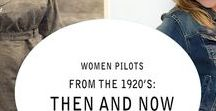 Female Pilots - Then and Now / Women's history of flight has included the famous first female pilot in 1911, the barnstormers and air racers, record setters, WWII Fighter and Bomber ferry pilots, to todays modern women. Female pilots who become astronauts, airline pilots, instructors, corporate pilots, to recreational pilots who fly for fun.