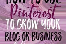 Pinterest strategies / The best ways to use Pinterest to increase traffic for your business or blog.