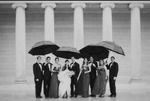 Singing in the rain ! (And getting married) / #epingler #wedding #rain #umbrella #mariage #original