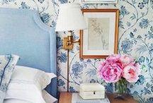 Blue & White Interiors / Blue + White Interiors ~ always a favorite at Noir Blanc Interiors