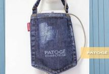(Cri)AÇÃO da Patogê / Quadro de inspiração com mimos em jeans, feitos pela Patogê