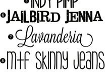 Fonts & Printables / by Nicole Sorenson
