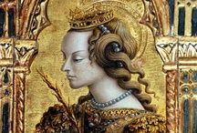 Carlo Crivelli 1435 – 1495 / His work fell steeply from fashion after his death. He had something of a revival, especially in the UK, during the time of the pre-Raphaelite painters, several of whom, including Edward Burne-Jones were admirers of Crivelli. For a brief time in the nineteenth century pre-Raphaelite painters embraced his paintings for their sumptuous allegorical detail and their vivid, strange emotions, however Crivelli has once more fallen into near obscurity.