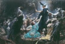 Adolf Hirémy-Hirschl 1860–1933 / A Hungarian artist  for historical and mythological painting,   particularly of ancient Rome. Although he was one of the most successful artists of fin-de-siècle Vienna, these circumstances, along with the rise of Gustav Klimt and the Vienna Secessionists, put his reputation in eclipse. He died in Rome on the 7th of April in 1933 and was buried in the Protestant Cemetery, Rome.