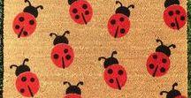 Summer Decor / Summer Inspired Home Decor and custom doormats!