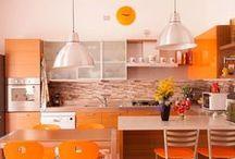 Orange Kitchen Design - Дизайн оранжевой кухни / All photos kitchen design - http://kuhnidizayn.ru Все о дизайне кухни - фото, статьи на http://kuhnidizayn.ru