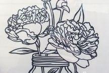 切り絵<花> / 切り絵用花の素材