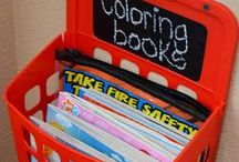 Home organization / Creative and clever ways to organize around the house.